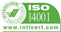 Integrated management certificate rating ISO14001.