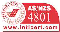Integrated management certificate rating AS/NZS4801.