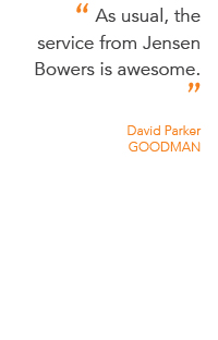 Client testimonial from David Parker at AR Goodman.