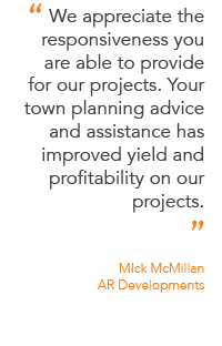 Client testimonial from Mick McMillan at AR Developments.