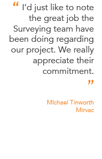 Client testimonial from Michael Tinworth at Mirvac.