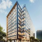 Artist's impression of Brisbane's timber office building at 25 King Street