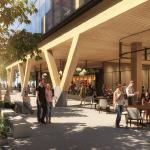 Artist's impression of Brisbane's timber office building at 25 King Street,