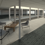 3D model scan of an office space in Brisbane City.